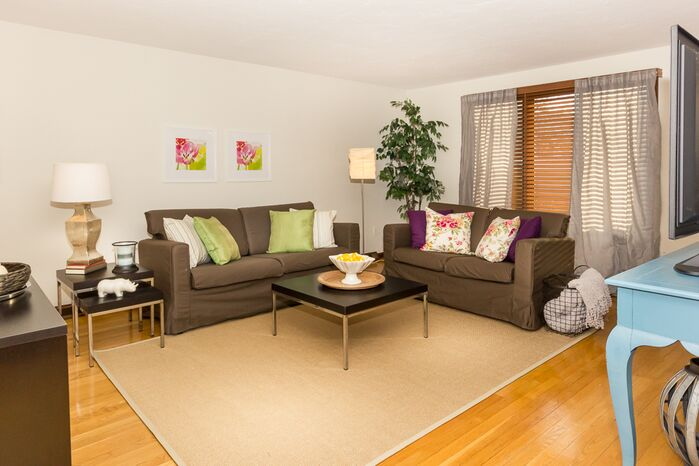 Contemporary Living Room photo by South Shore Staging and Photog