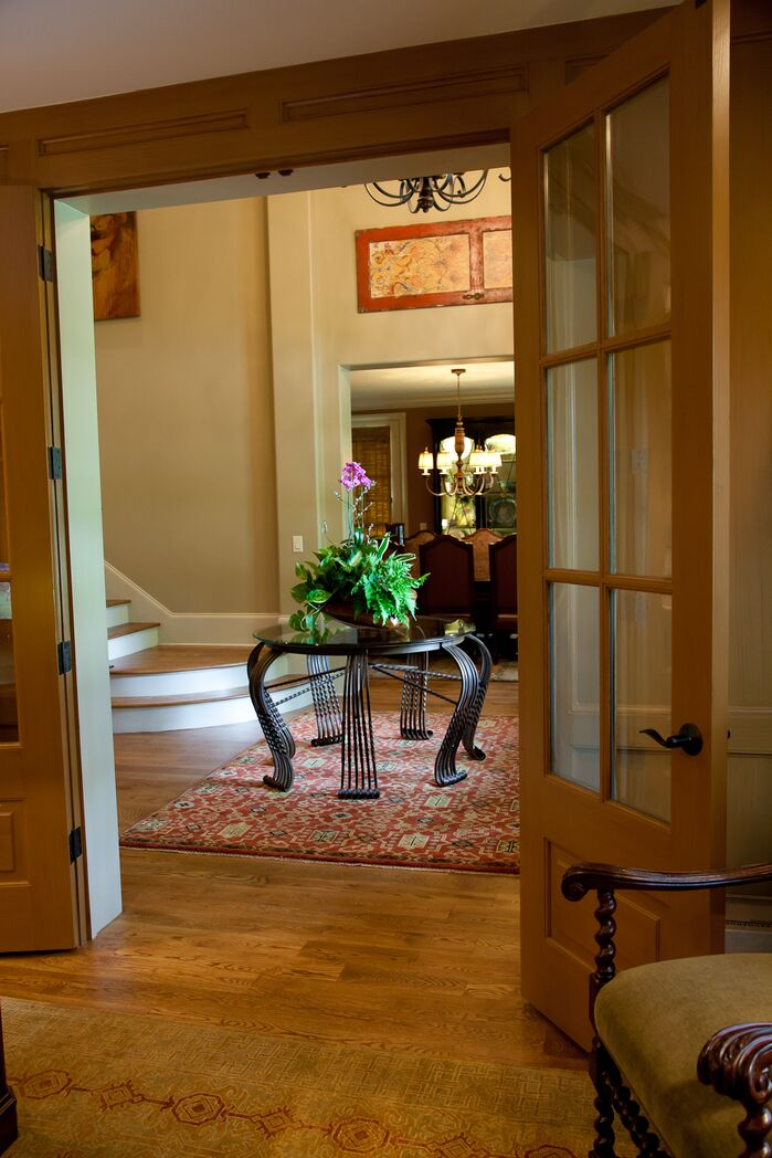 Traditional Entryway and Hallway photo by Atomic 26 Designs