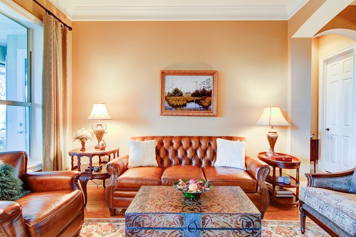 Traditional Living Room photo by Interiors Revitalized