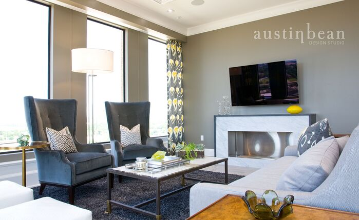 Contemporary Living Room photo by Austin Bean Design Studio