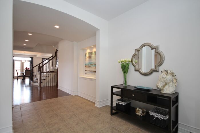 Contemporary Entryway and Hallway photo by Capital Home Staging  Design