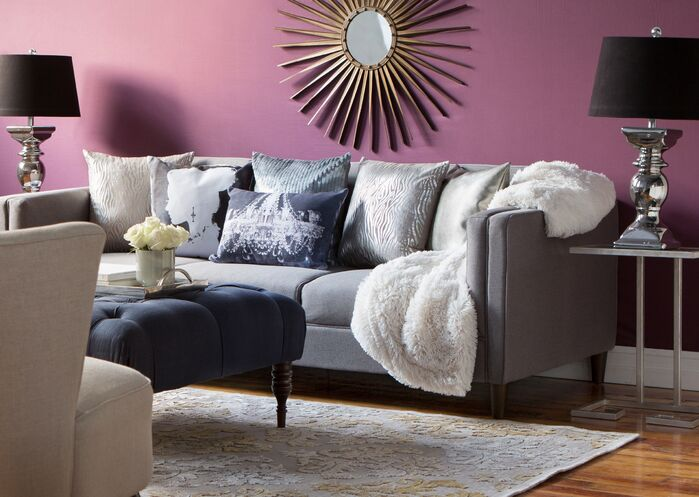 Glam Living Room photo by Wayfair