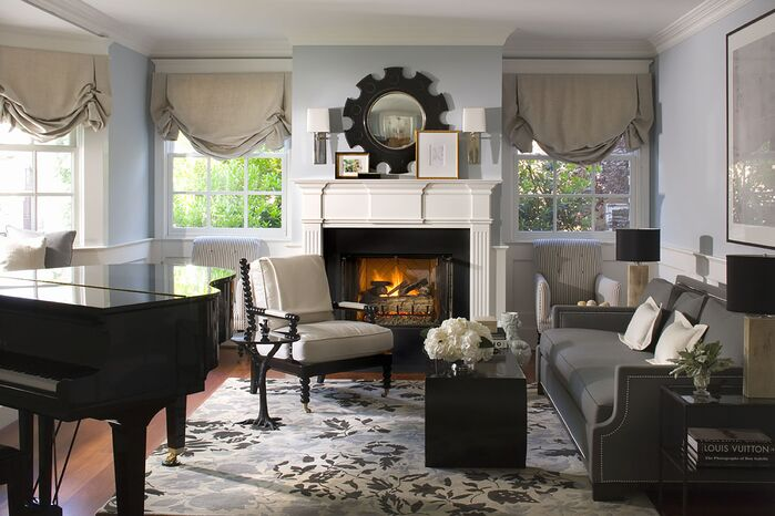 Traditional Living Room photo by Burnham Design