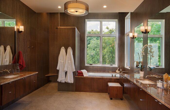 Contemporary Bathroom photo by Paula Ables Interiors