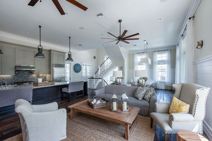 Coastal Living room photo by Chancey Design Partnership