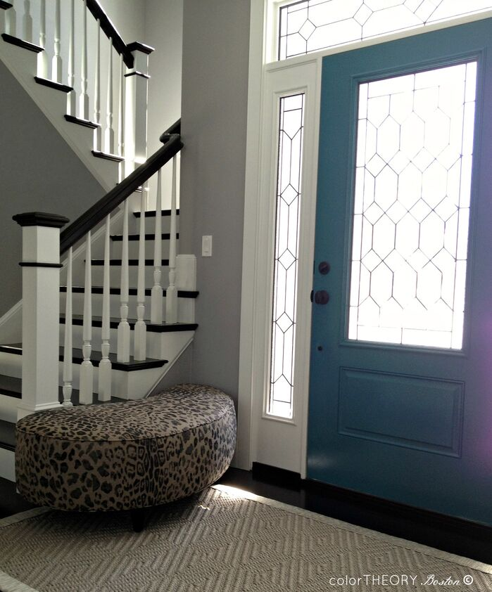 Eclectic Entryway and Hallway photo by colorTHEORY Boston