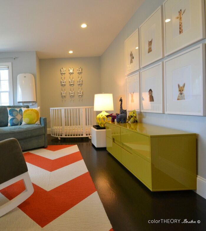 Contemporary Nursery photo by colorTHEORY Boston