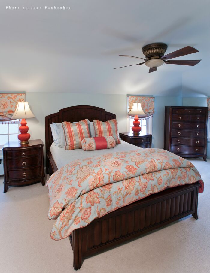 Traditional Bedroom photo by Paula Caponetti Designs LLC