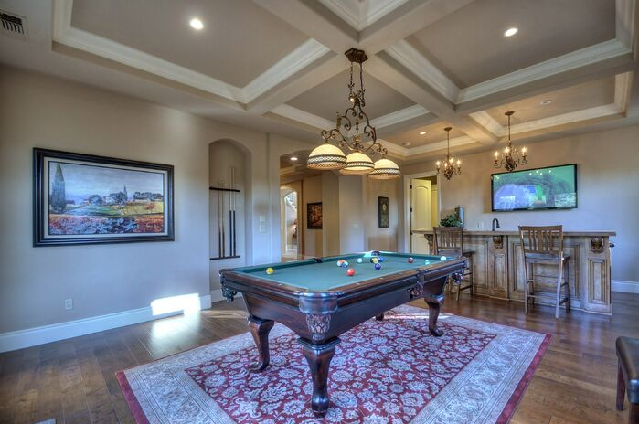 Traditional Game/Rec Room photo by Deborah Costa Design