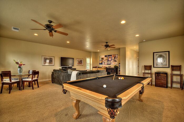Contemporary Game/Rec Room photo by Deborah Costa Design
