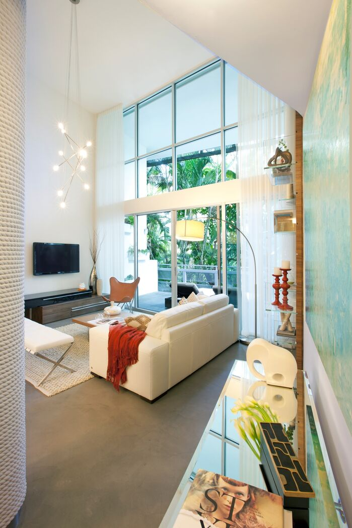Contemporary Living Room photo by DKOR Interiors