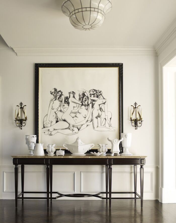 Traditional Entryway and Hallway photo by Mendelson Group