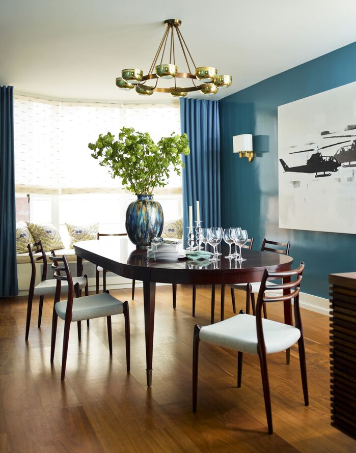 Contemporary Dining Room photo by Mendelson Group