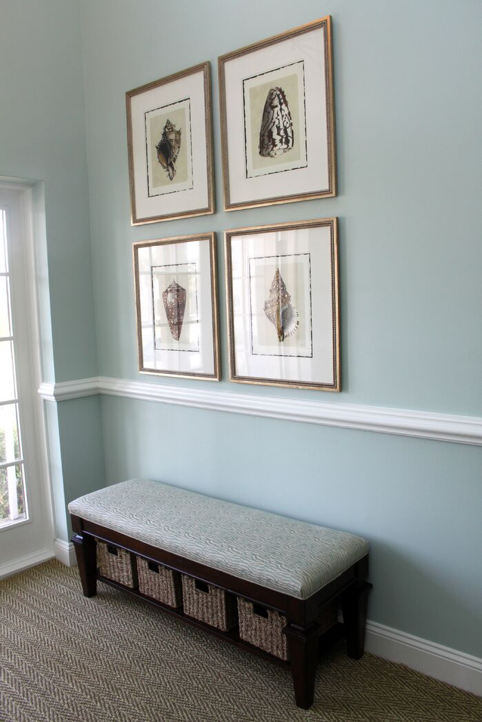 Coastal Entryway and Hallway photo by Housedressings Interiors LLC.