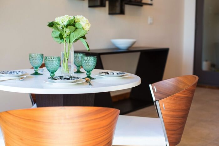 Contemporary Dining Room photo by L.A. Design, LLC