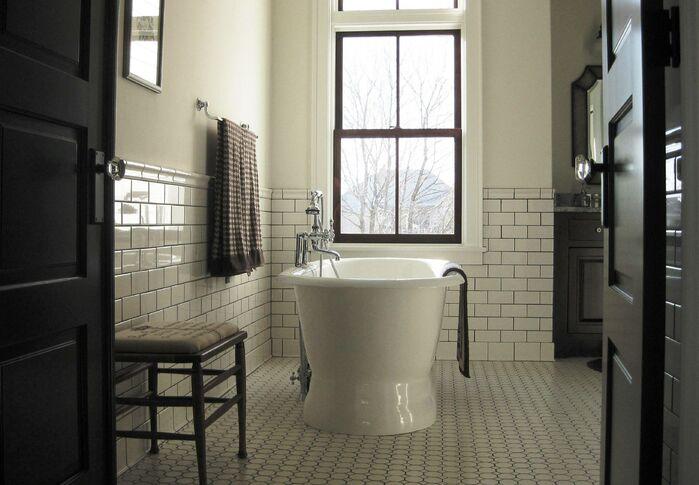 Farmhouse Bathroom Design : Old Stone Farmhouse Master Bath - Traditional - Bathroom - Photos by ...