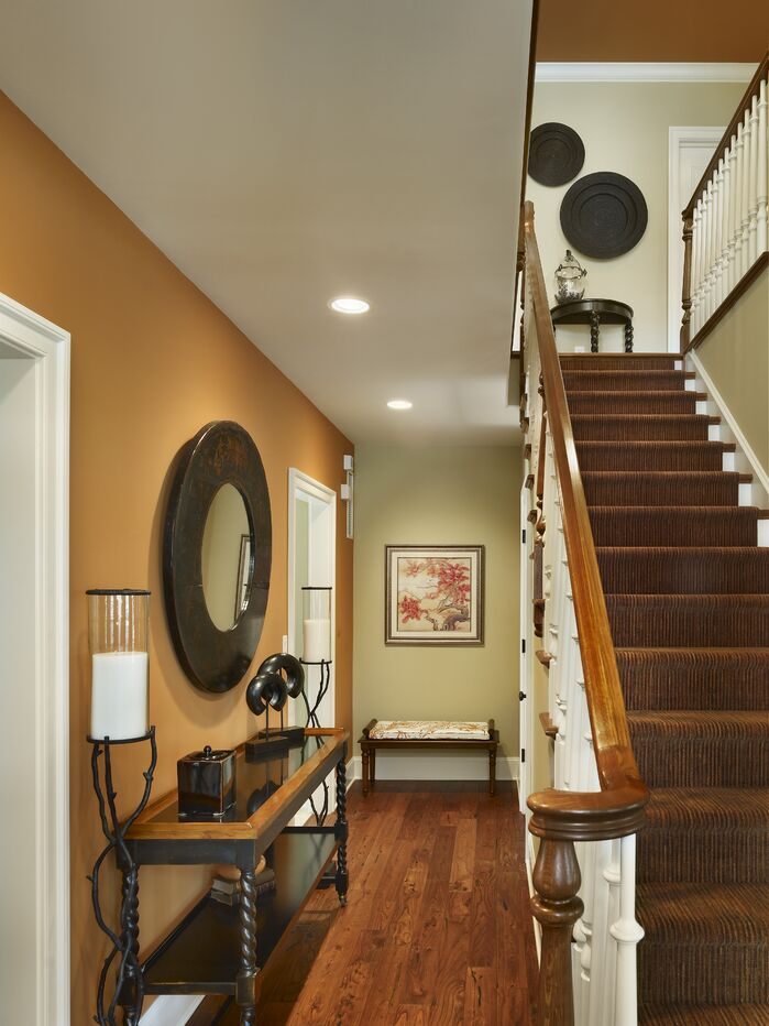 Coastal Entryway and Hallway photo by Joseph A Berkowitz Interiors