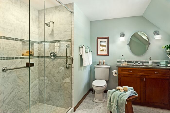 Contemporary Bathroom photo by Connie Long Interiors