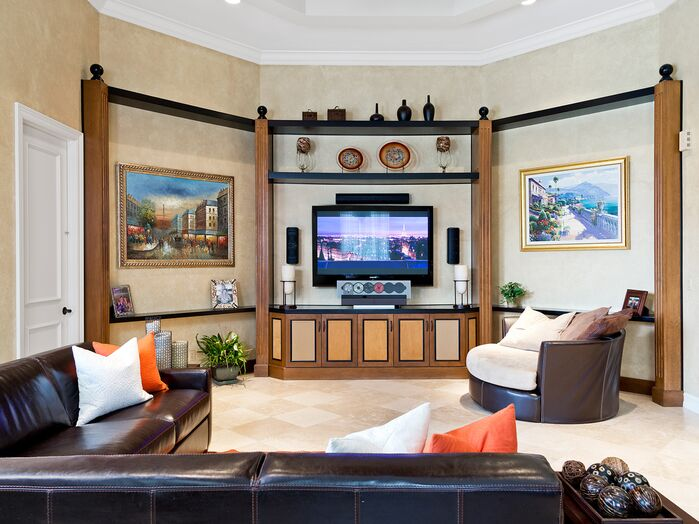 Contemporary Living Room photo by Interiors By Orshi