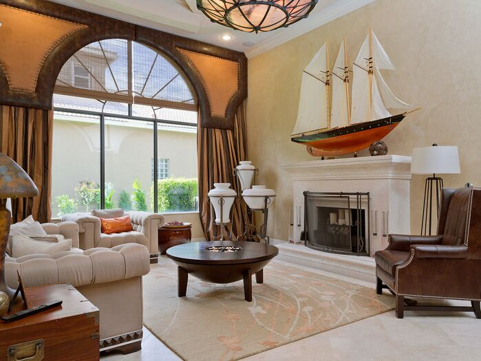 Traditional Living Room photo by Interiors By Orshi