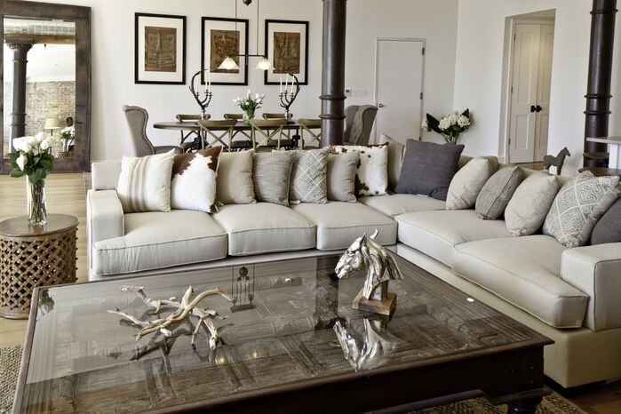 Contemporary Living Room photo by Marie Burgos Design