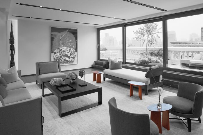 Contemporary Living Room photo by Lisa Dubin Architect
