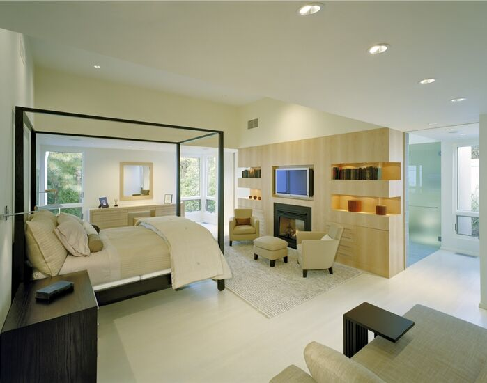 Modern Bedroom photo by Lisa Dubin Architect