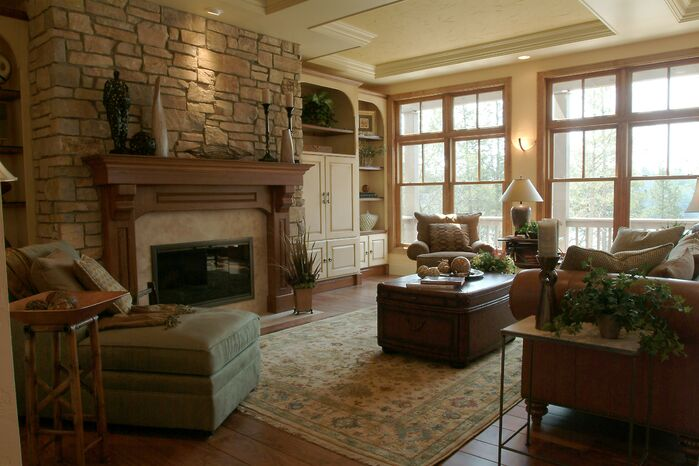 Cottage/Country Living Room photo by Ware Design Build