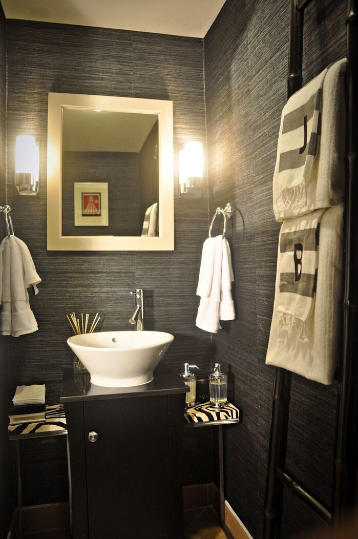 Glam Bathroom photo by Nicole White Designs Inc.