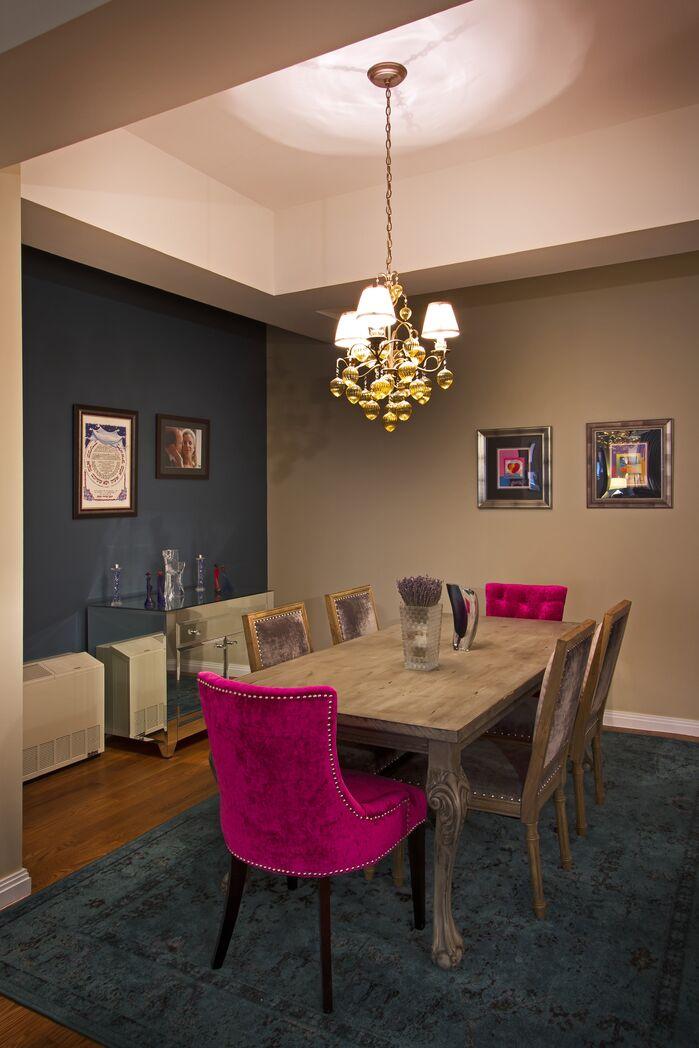 Glam Dining Room photo by Vanessa Deleon Associates