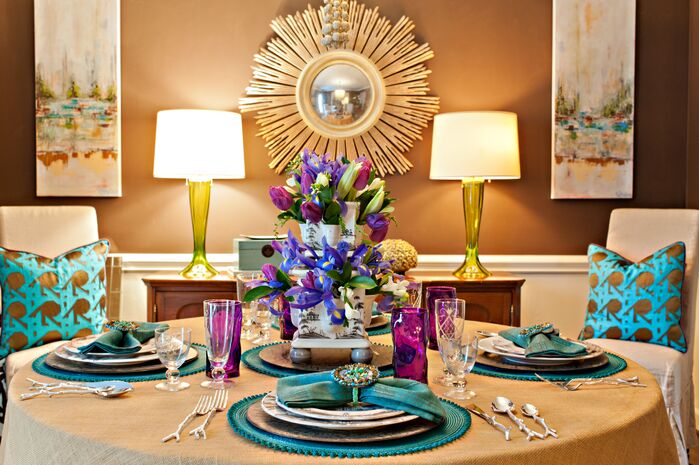 Eclectic Dining Room photo by Lisa Mende Design