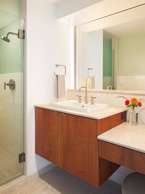 Modern Bathroom photo by Floss Barber Inc.