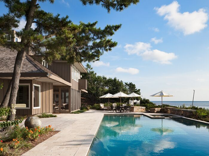Coastal Exterior/Patio photo by Floss Barber, Incorporated