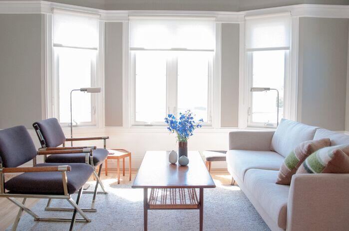 Scandinavian Living Room photo by CLAYTON APGAR DESIGN LLC