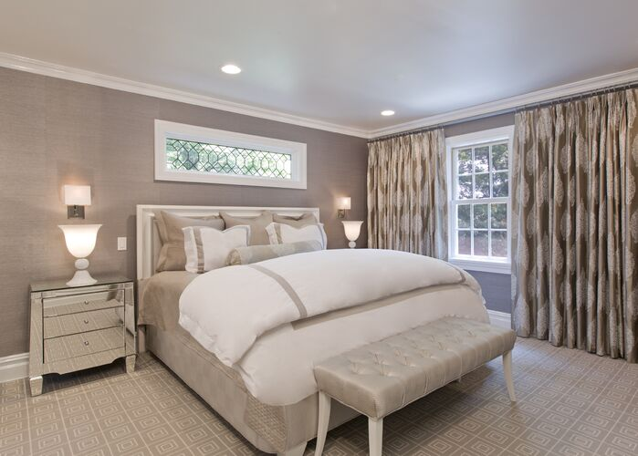 Contemporary Bedroom photo by Paula Caponetti Designs LLC