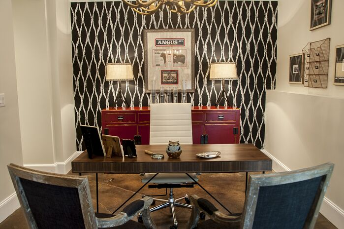 Eclectic Home Office photo by 2 Gays & A Design