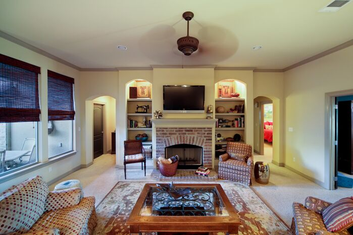 Traditional Living Room photo by red river remodelers