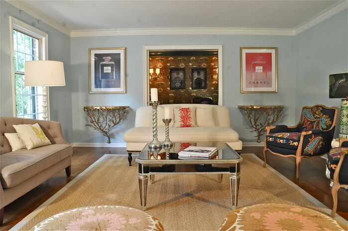 Eclectic Living Room photo by Beth Interiors