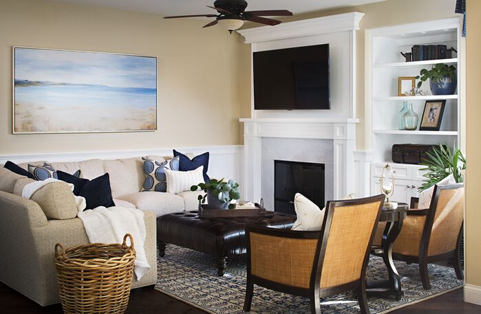 Coastal Living Room photo by Style On a Shoestring