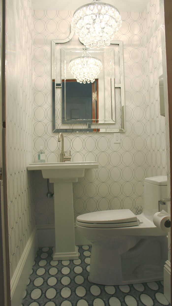 Glam Bathroom photo by Norton-O'Brien Design