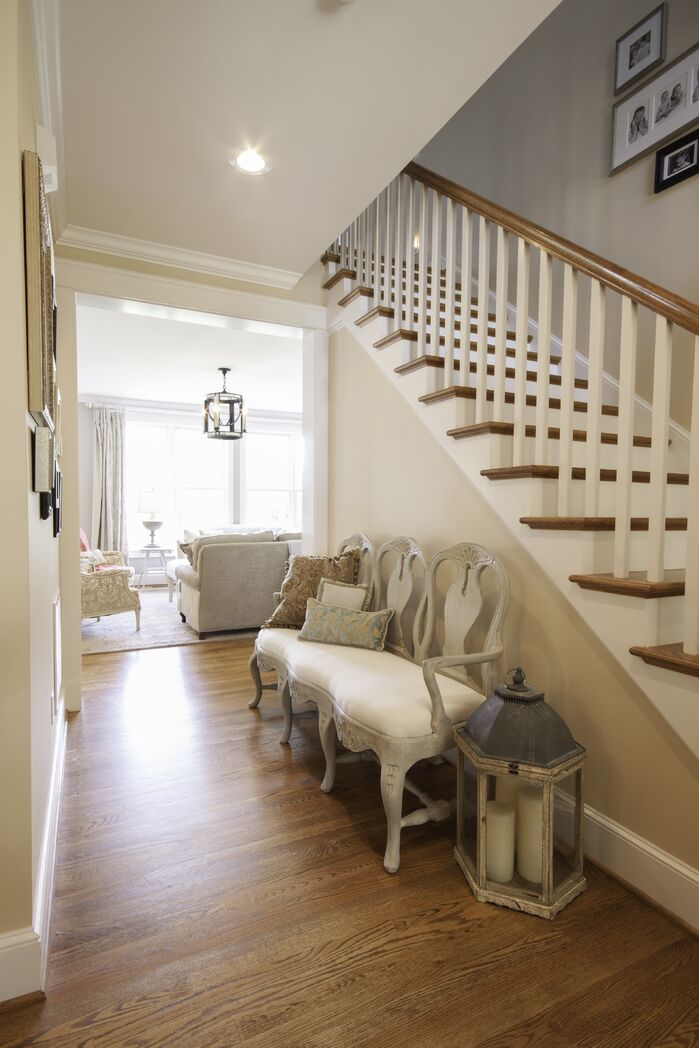 Traditional Entryway and Hallway photo by Embellish Interiors
