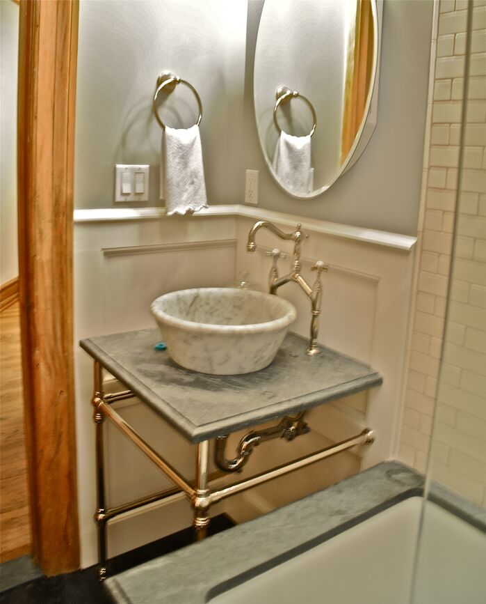 Eclectic Bathroom photo by Beth Interiors