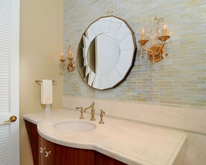 Glam Bathroom photo by Kerrie Kelly Design Lab