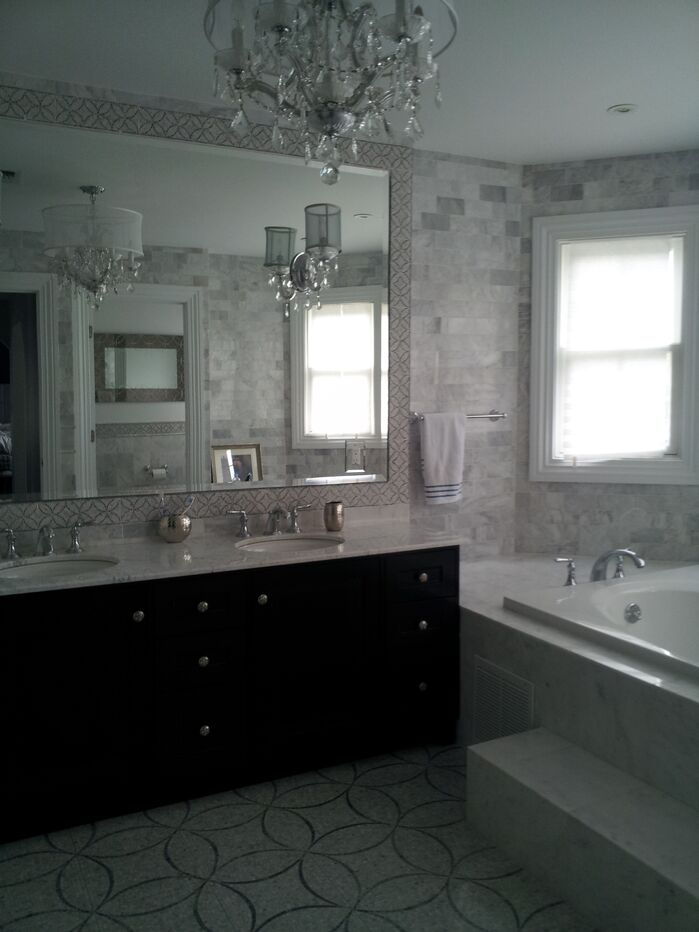 Glam Bathroom photo by Eclectic Interiors