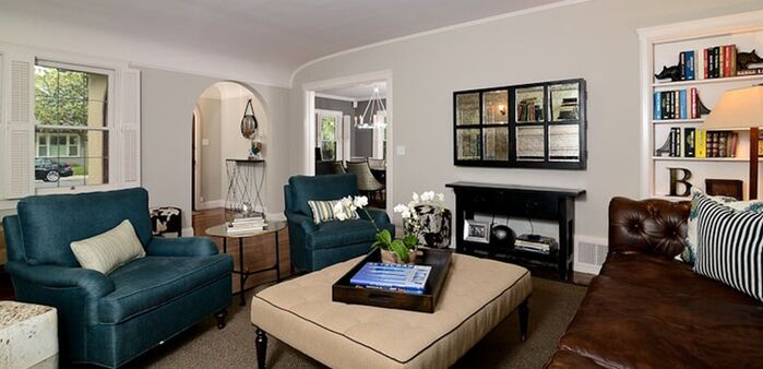 Contemporary Living Room photo by Kerrie Kelly Design Lab
