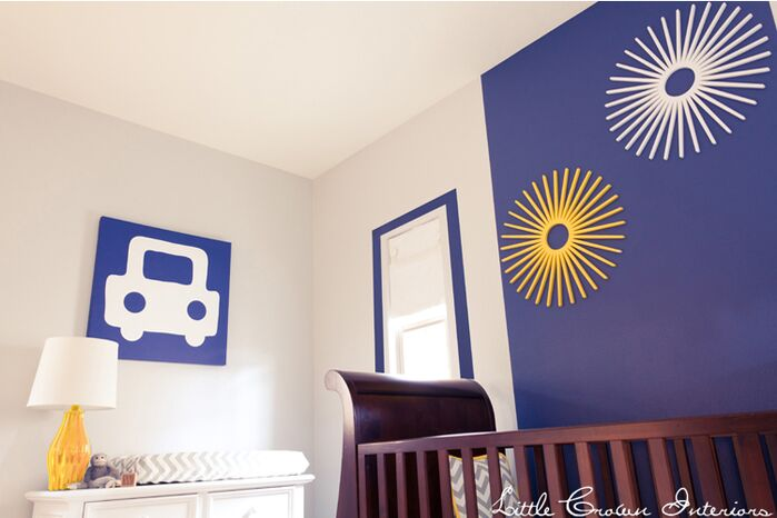 Contemporary Nursery photo by Little Crown Interiors