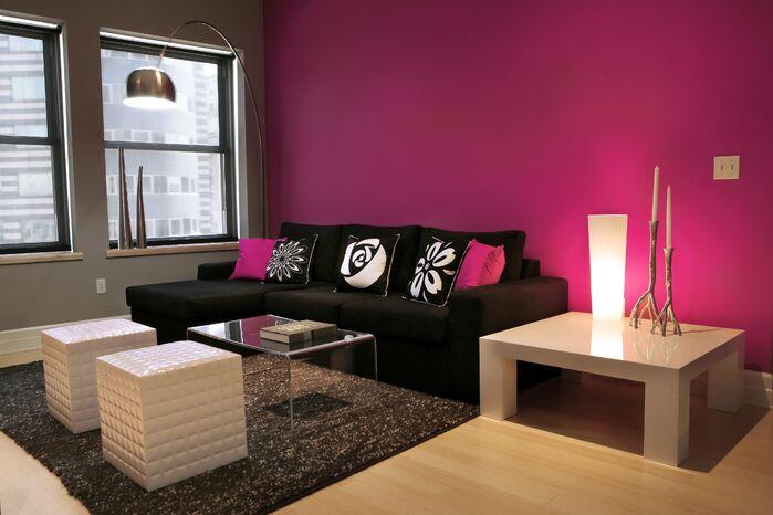 Modern Living Room photo by Skia Design LLC