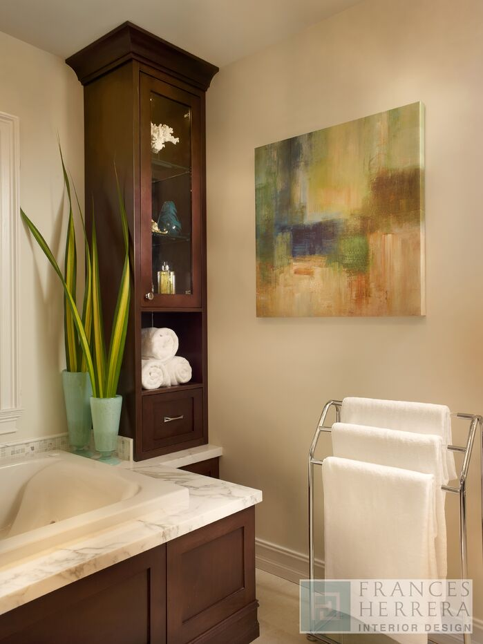 Contemporary Bathroom photo by Frances Herrera Interior Design