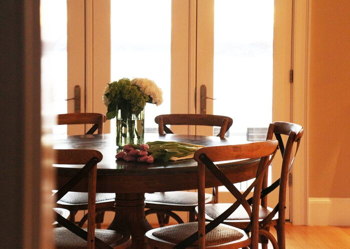 Cottage/Country Dining Room photo by Victoria Elizabeth Design