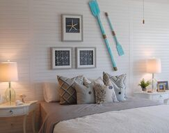 Coastal Bedroom photo by Masterpiece Interiors, Inc.